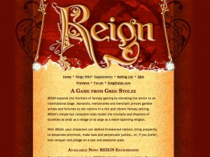 REIGN, a game of lords and leaders