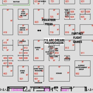 Find Arc Dream Publishing, Pagan Publishing, and Dagon Industries at GenCon 2012, booth 715
