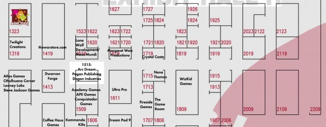 GenCon has posted the Exhibit Hall floorplan for 2013! You can find Arc Dream Publishing in Booth 1515 along with our usual partners, Pagan Publishing and Dagon Industries. Go through...